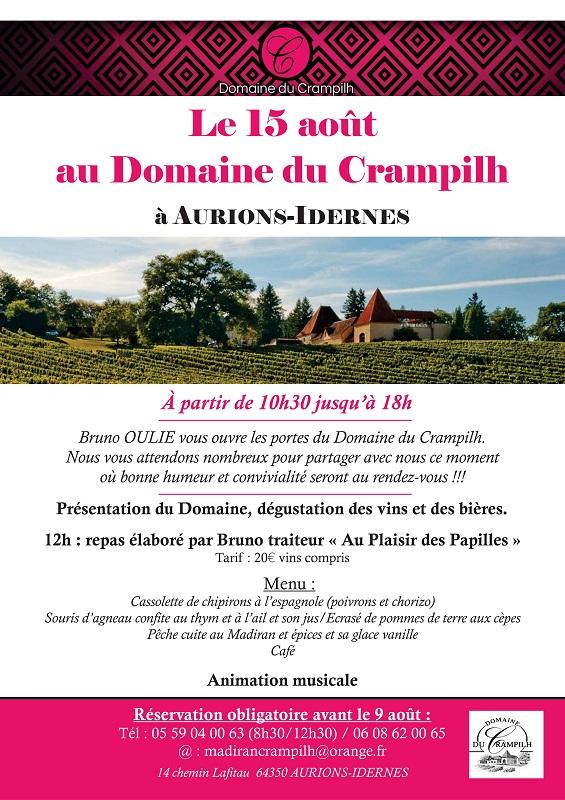 Programme 15 Août - Domaine du Crampilh